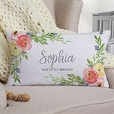 Floral Baby Personalized Lumbar Throw Pillow - 20566-LB