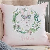 Woodland Floral Bunny Personalized 18