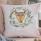 Woodland Floral Deer Personalized 18