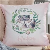 Woodland Floral Raccoon Personalized 18