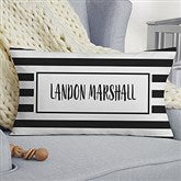 Black & White Personalized Lumbar Baby Throw Pillow - 20569-LB