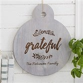 Cozy Kitchen Personalized Whitewashed Walnut Serving Paddle - 20572
