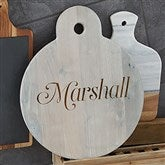 Classic Kitchen Personalized Whitewashed Walnut Serving Paddle - 20574