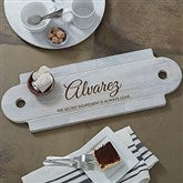 Classic Kitchen Personalized Whitewashed Walnut Serving Board - 20576