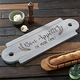 Rustic Farmhouse Personalized Whitewashed Walnut Serving Board - 20579