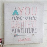 Greatest Adventure Personalized Boho Collection Canvas Print-12