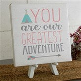 Greatest Adventure Personalized Boho Collection Canvas Print -8