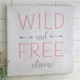 Wild & Free Personalized Boho Collection Canvas Print-12