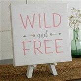 Wild & Free Personalized Boho Collection Canvas Print-5½ x 5½ - 20586-5x5