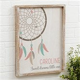 Boho Dreamcatcher Personalized Barnwood Frame Wall Art- 14
