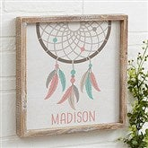 Boho Dreamcatcher Personalized Barnwood Frame Wall Art- 12