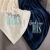 His or Hers Personalized 50x60 Fleece Blanket - 20608