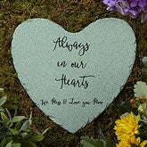 Memorial Expressions Personalized Heart Garden Stone - 20617
