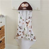 Woodland Adventure Owl Personalized Hooded Towel - 20618-O