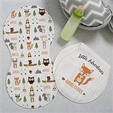Woodland Adventure Fox Personalized Burp Cloths - Set of 2 - 20619-F