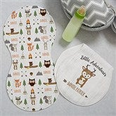 Woodland Adventure Deer Personalized Burp Cloths - Set of 2 - 20619-D
