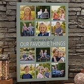 My Favorite Things Personalized Photo Canvas Print- 12