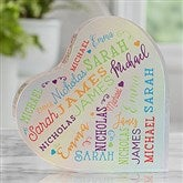 Close To Her Heart Personalized Colored Heart Keepsake - 20637