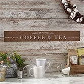 Coffee Bar Personalized Wooden Sign - 20644