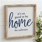 Good To Be Home Personalized Barnwood Frame Wall Art- 12