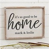 Good To Be Home Personalized Barnwood Frame Wall Art- 14
