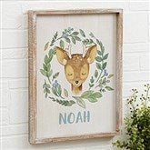 Woodland Deer Personalized Barnwood Frame Wall Art- 14
