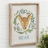 Woodland Deer Personalized Barnwood Frame Wall Art- 14