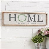 HOME Wreath Personalized Barnwood Frame Wall Art - 30