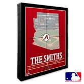 Arizona Diamondbacks Personalized MLB Stadium Coordinates Canvas Print - 20694-16x20
