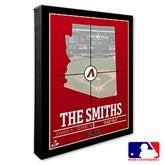 Arizona Diamondbacks Personalized MLB Stadium Coordinates Canvas Print - 20694-16x20