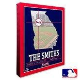 Atlanta Braves Personalized MLB Stadium Coordinates Canvas Print - 20695-16x20