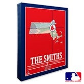 Boston Red Sox Personalized MLB Stadium Coordinates Canvas Print - 20697-16x20
