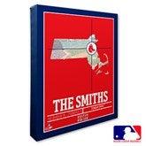 Boston Red Sox Personalized MLB Stadium Coordinates Canvas Print - 20697-16x20
