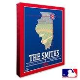 Chicago Cubs Personalized MLB Stadium Coordinates Canvas Print - 20698-16x20