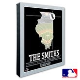 Chicago White Sox Personalized MLB Stadium Coordinates Canvas Print - 20699-16x20