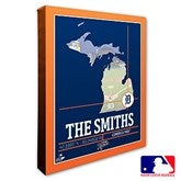 Detroit Tigers Personalized MLB Stadium Coordinates Canvas Print - 20703-16x20