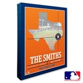 Houston Astros Personalized MLB Stadium Coordinates Canvas Print - 20704-16x20