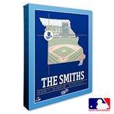 Kansas City Royals Personalized MLB Stadium Coordinates Canvas Print - 20705-16x20