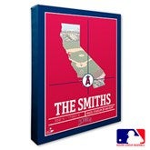 Los Angeles Angels Personalized MLB Stadium Coordinates Canvas Print - 20706-16x20