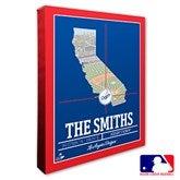 Los Angeles Dodgers Personalized MLB Stadium Coordinates Canvas Print - 20707-16x20