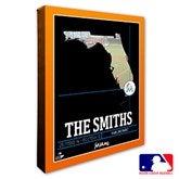 Miami Marlins Personalized MLB Stadium Coordinates Canvas Print - 20708-16x20