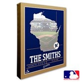 Milwaukee Brewers Personalized MLB Stadium Coordinates Canvas Print - 20709-16x20
