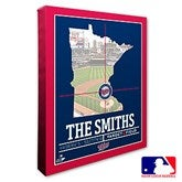 Minnesota Twins Personalized MLB Stadium Coordinates Canvas Print - 20710-16x20