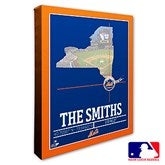 New York Mets Personalized MLB Stadium Coordinates Canvas Print - 20711-16x20