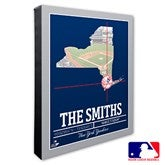 New York Yankees Personalized MLB Stadium Coordinates Canvas Print - 20712-16x20