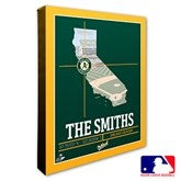 Oakland Athletics Personalized MLB Stadium Coordinates Canvas Print - 20713-16x20
