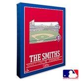 Philadelphia Phillies Personalized MLB Stadium Coordinates Canvas Print - 20714-16x20