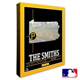 Pittsburgh Pirates Personalized MLB Stadium Coordinates Canvas Print - 20715-16x20