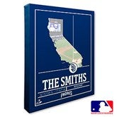San Diego Padres Personalized MLB Stadium Coordinates Canvas Print - 20716-16x20