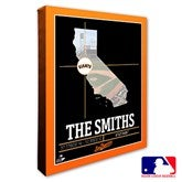 San Francisco Giants Personalized MLB Stadium Coordinates Canvas Print - 20717-16x20